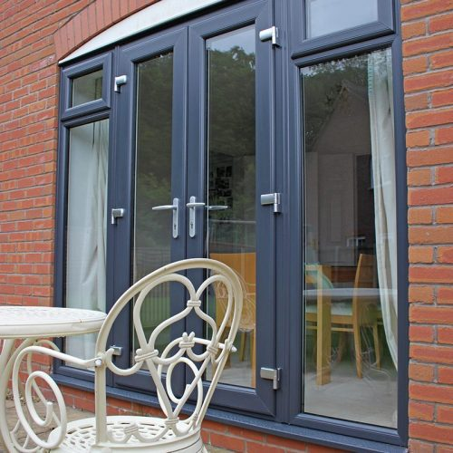 anthracite grey french door