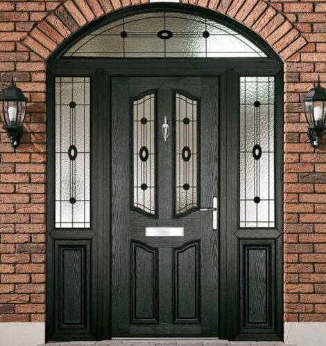 Composite door black