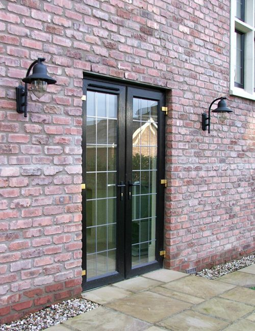 Black french door