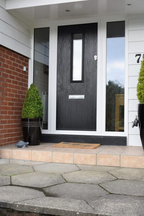 Contemporary black composite door