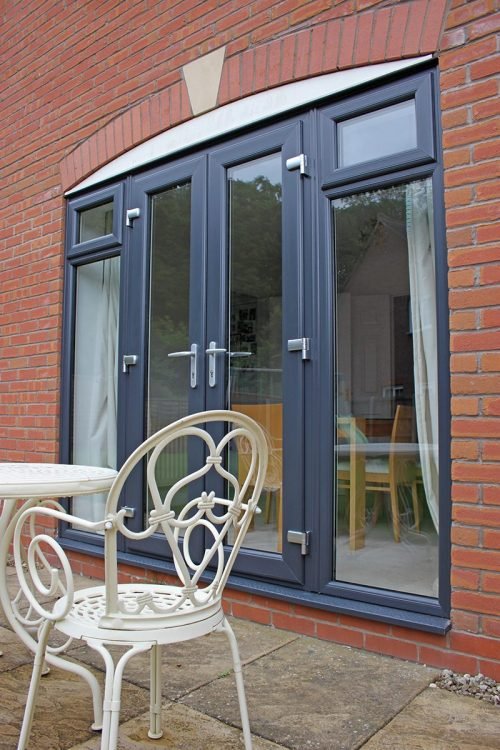 anthracite grey french door