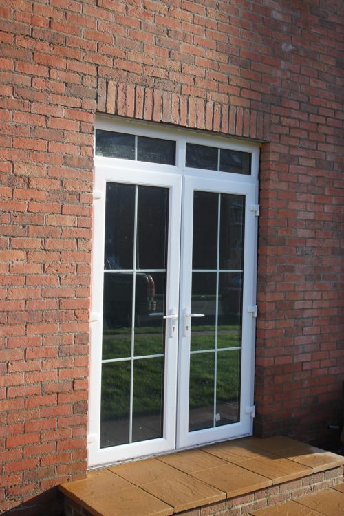 White pvc french door
