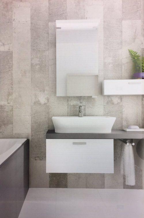 Light grey wall panels