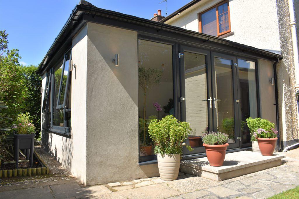 Modern grey Sunroom Extension