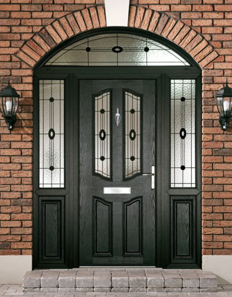 Composite door black