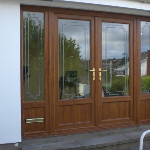 Brown French Doors