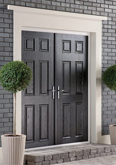 French doors black