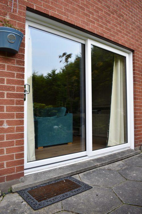 uPVC sliding white patio door