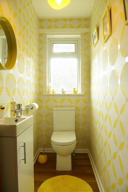 Yellow toilet suite