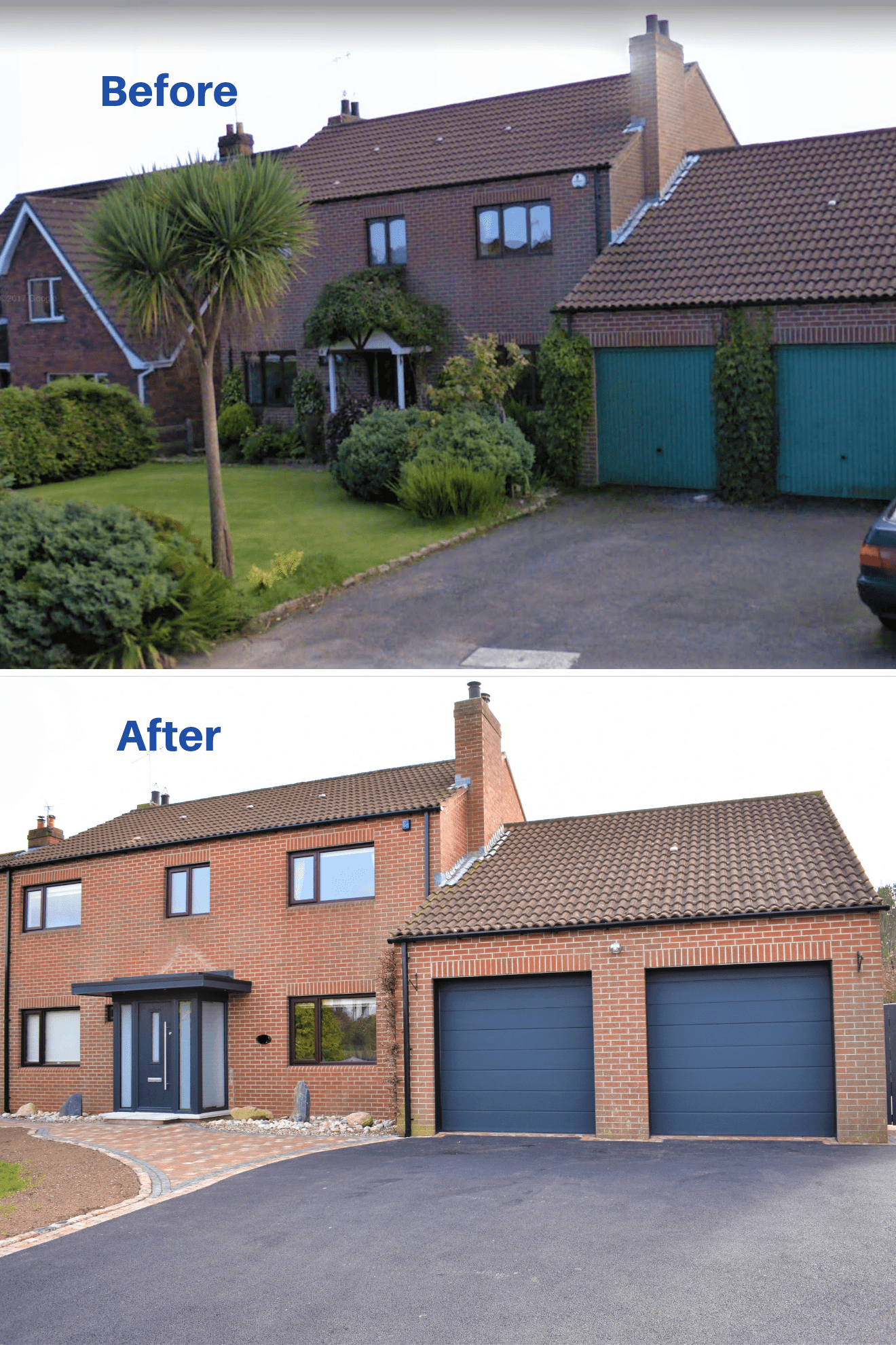Before and after modern Porch