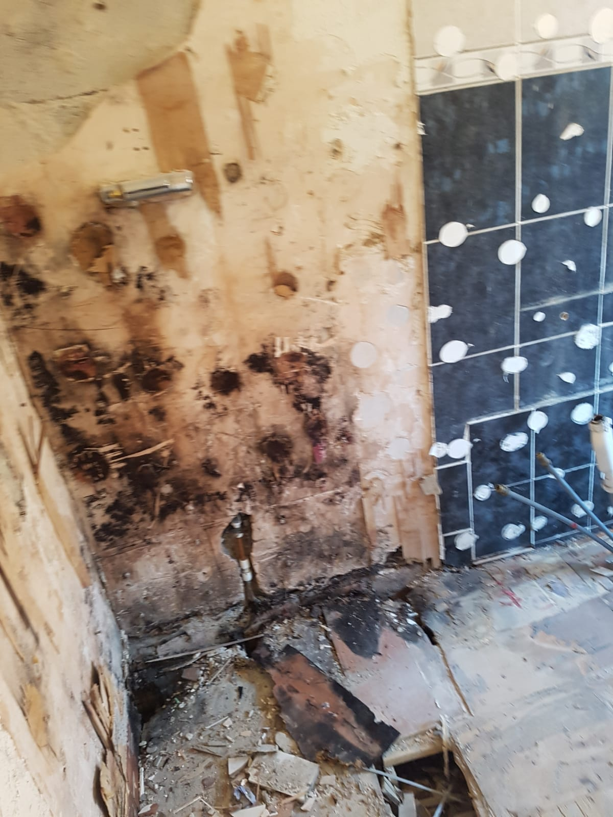 bathroom during installation