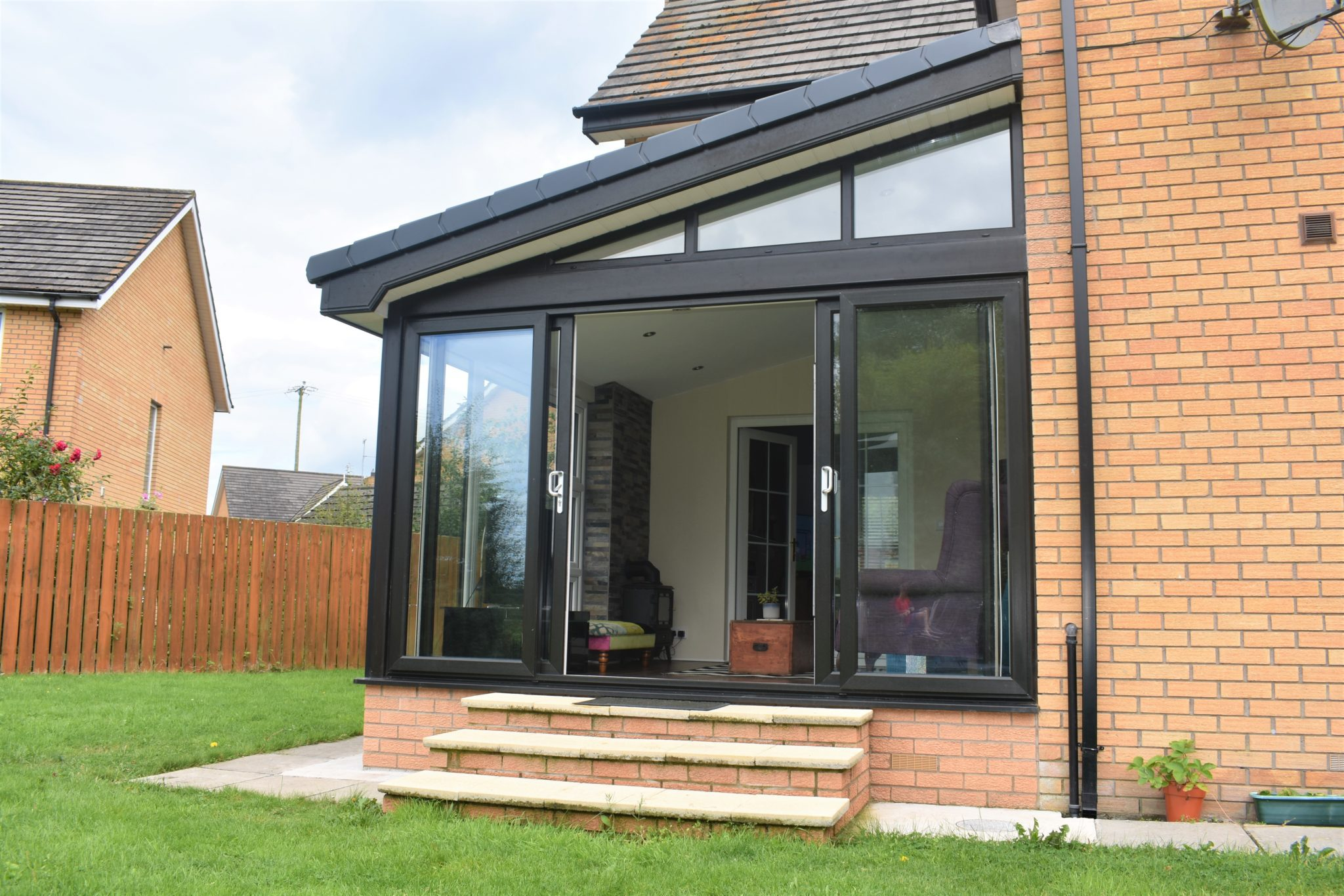 Grey sunroom