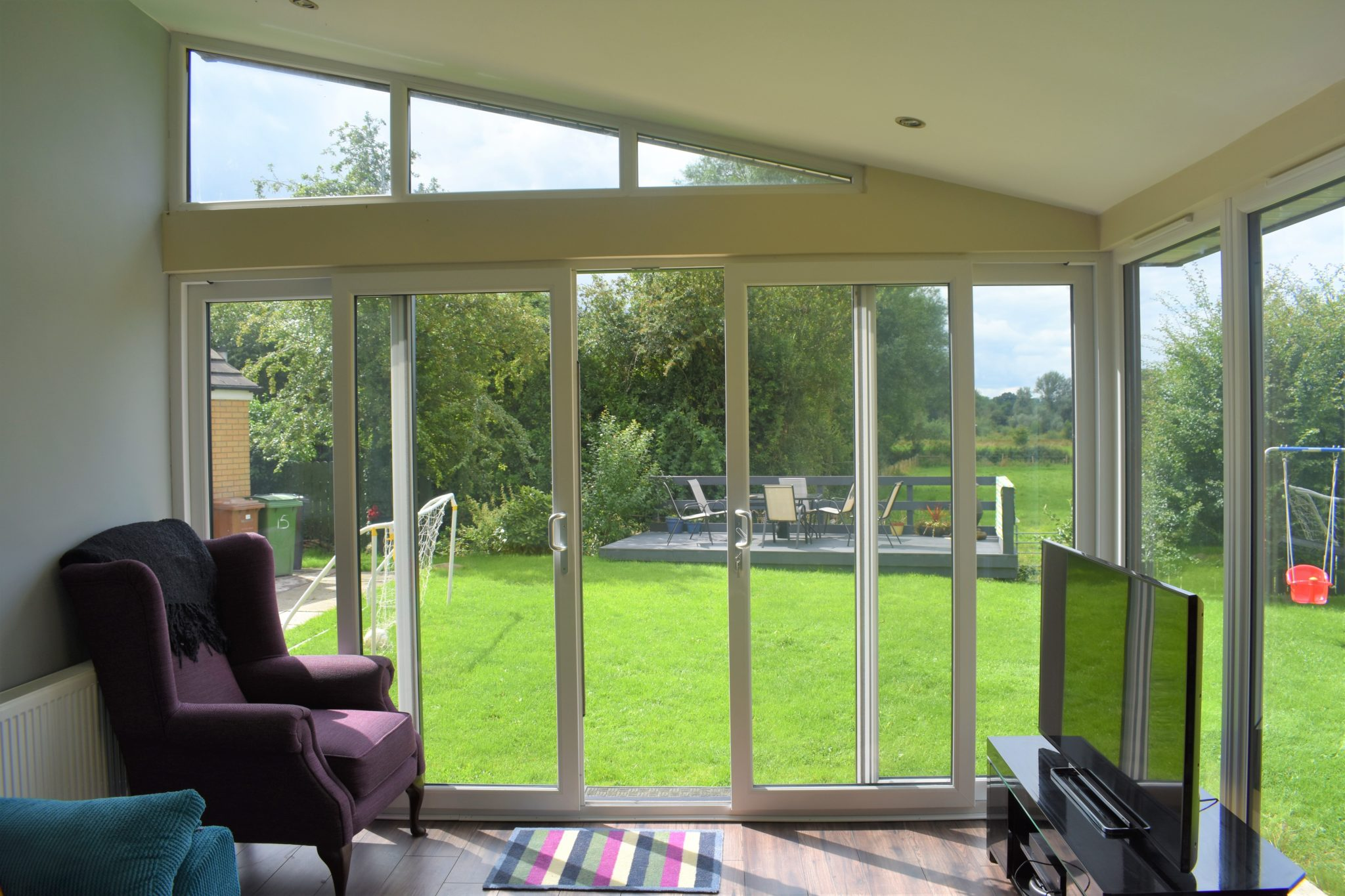 Sunroom inside with stunning views