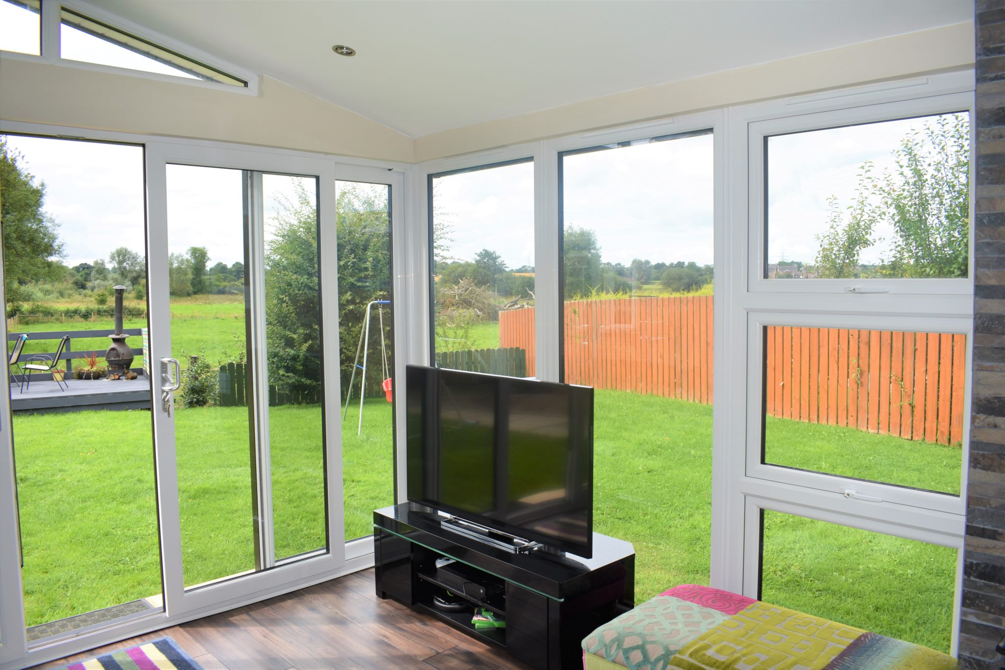 white uPVC sunroom
