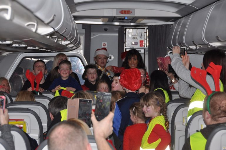 NI Children to lapland on plane