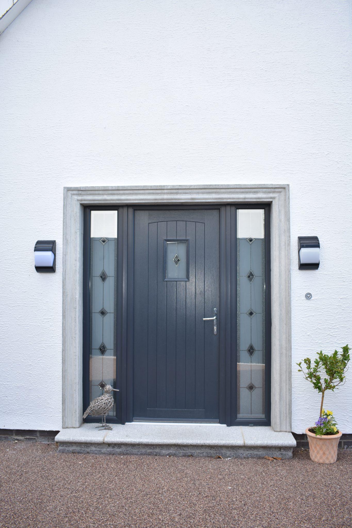 Anthracite grey contemporary composite door