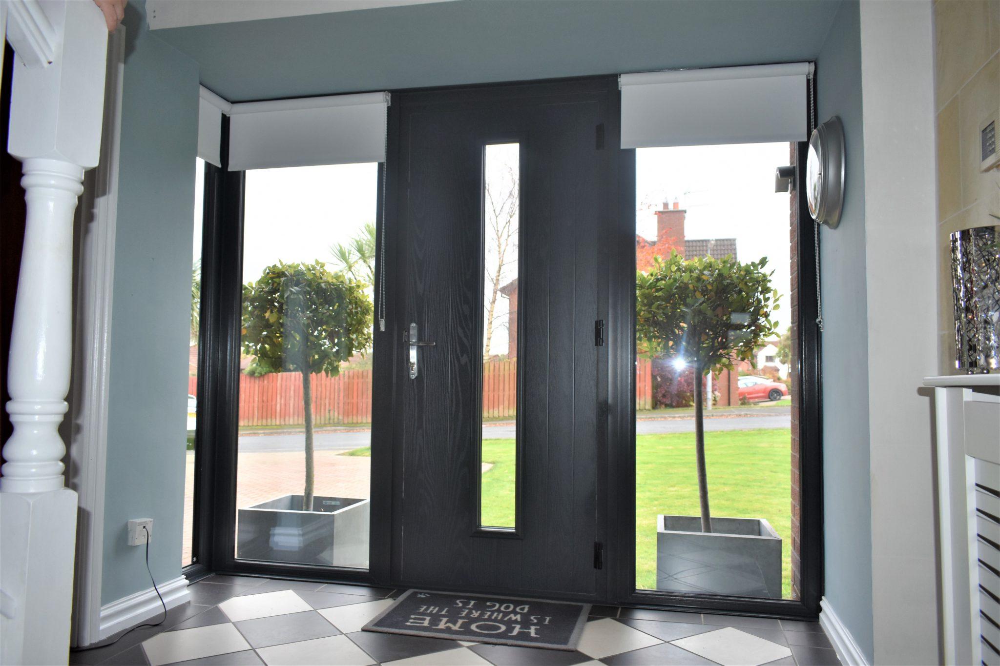 Modern grey composite door